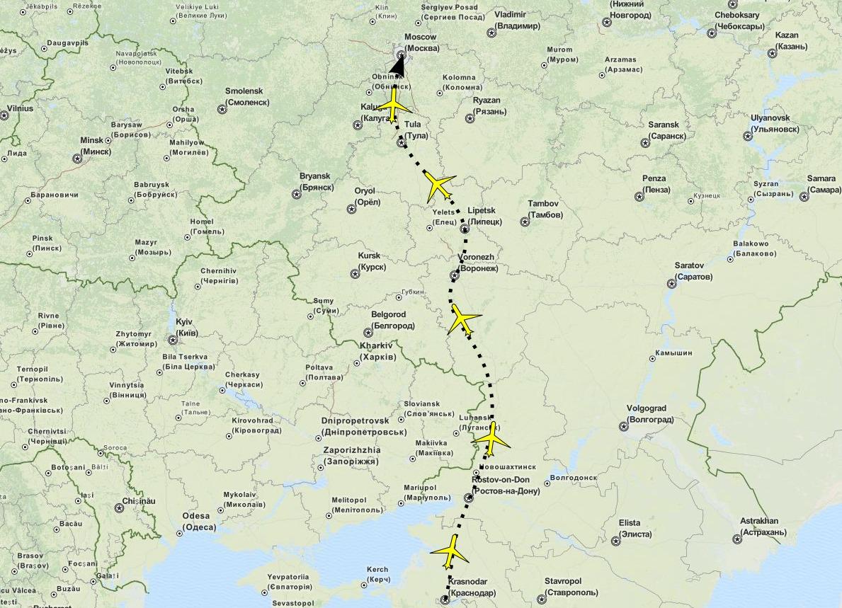 Путь доставки в Москву одежды