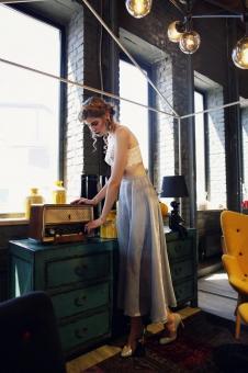 Экстравагантная юбка в бельевом стиле 40106-1