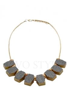 Колье с крупными камнями 88010-1