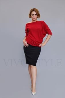 Женская блуза с цельнокроеным рукавом 10128-1