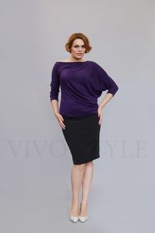 Женская блуза с цельнокроеным рукавом 10128-4