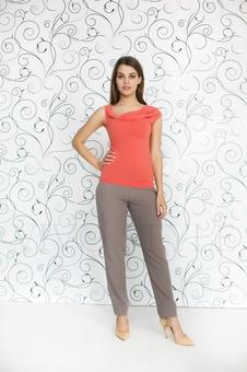 Блуза женская из мягкого трикотажа 10151-10