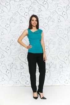 Блуза женская из мягкого трикотажа 10151-6