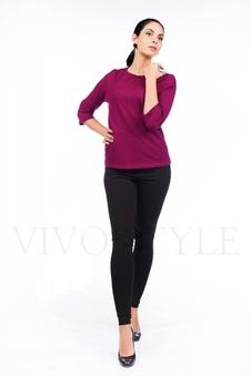 Блуза с рукавом три четверти 10290-3