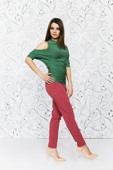 Блуза с драпировкой 10297-5