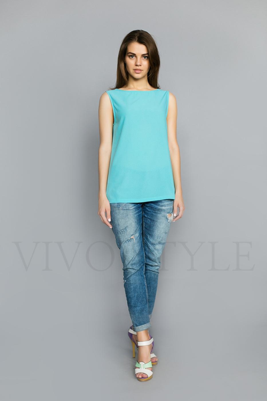 Женская однотонная блуза