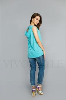Женская однотонная блуза 10307-1
