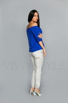 Блуза с квадратной горловиной 10319-1