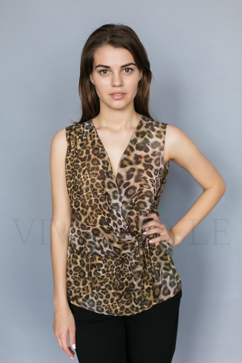 Удлиненная летняя женская блуза