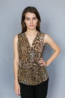 Удлиненная летняя женская блуза 10321-1