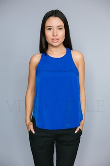 Молодежная однотонная блуза 10327-6