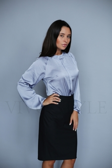 Блуза прямого силуэта