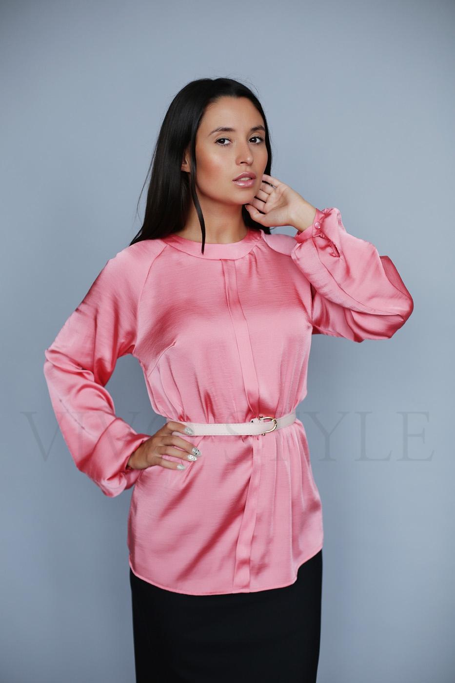 Удлиненная женская блуза с рукавом