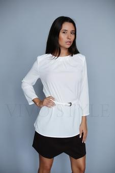 Однотонная женская блуза с овальной горловиной 10337-2