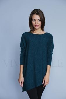 Женская блуза с асимметричным низом 10341-5
