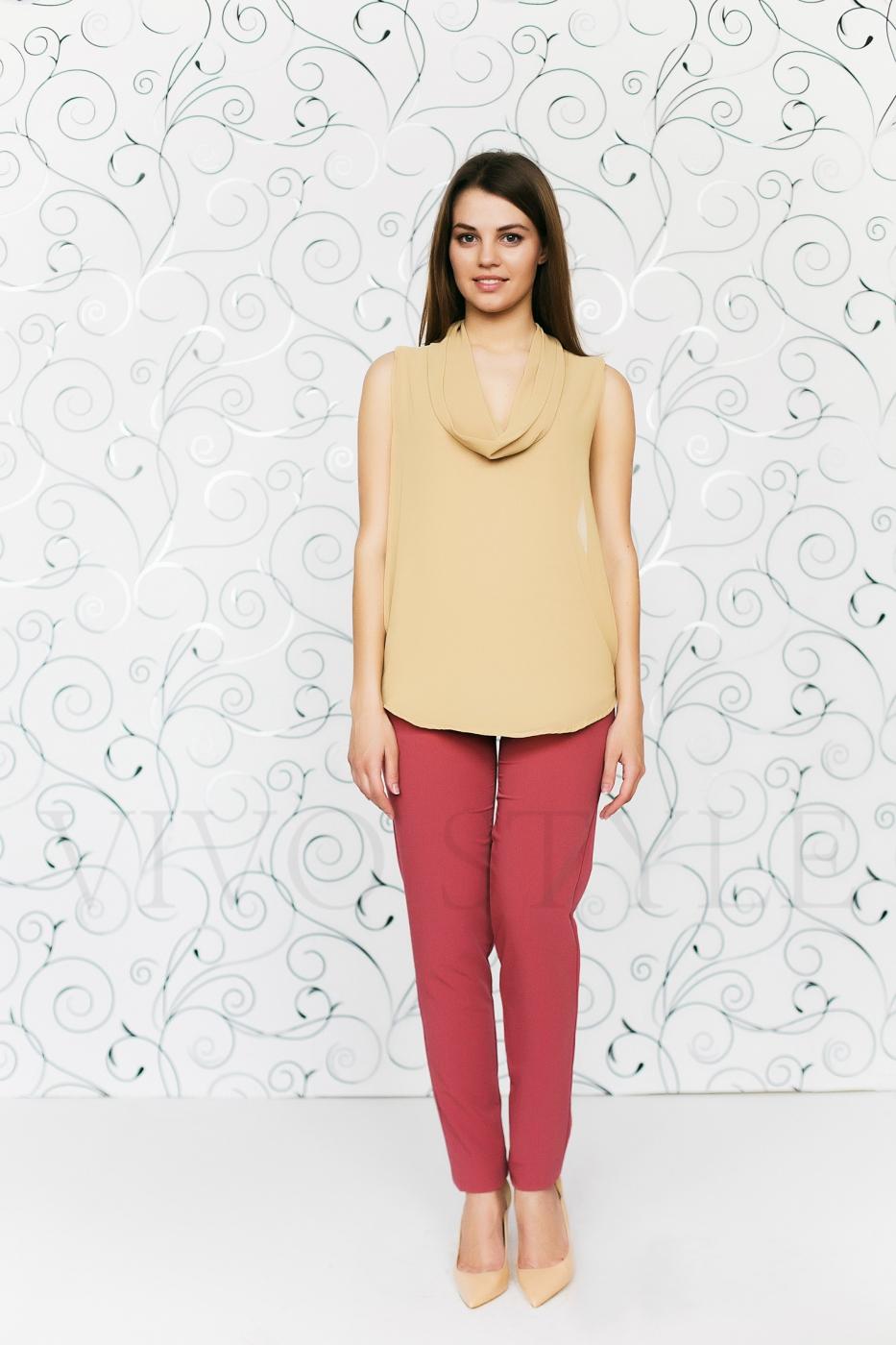 Блуза из двух тканей