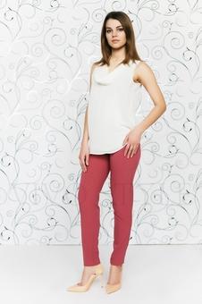 Блуза из двух тканей 10510-2