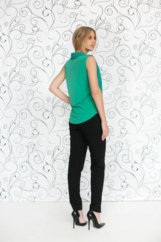 Блуза из двух тканей 10510-7