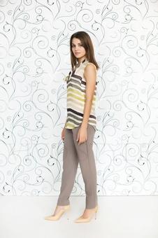 Блуза из двух тканей 10510-8