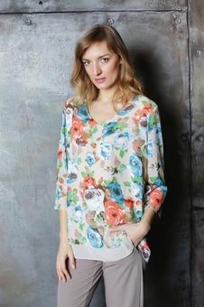 Женская блуза с рукавом три четверти 10512-1