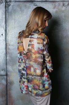 Женская блуза с рукавом три четверти 10512-4