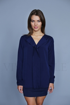 Однотонная женская блуза 10514-1