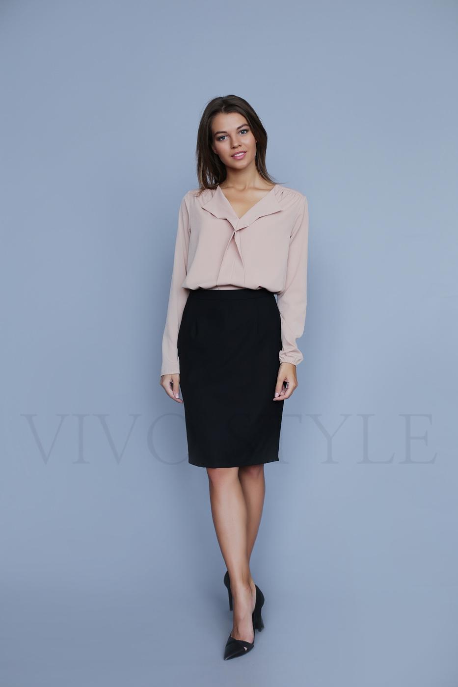 Однотонная женская блуза