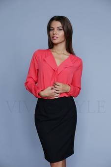 Однотонная женская блуза 10514-5