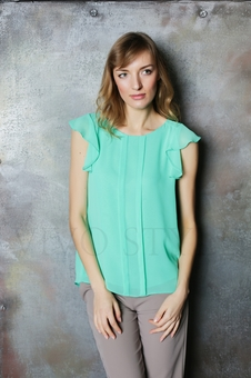 Нежная женская блуза до линии бедер 10523-3