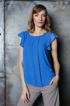 Нежная женская блуза до линии бедер 10523-4