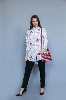 Женская удлиненная блуза 16039-1