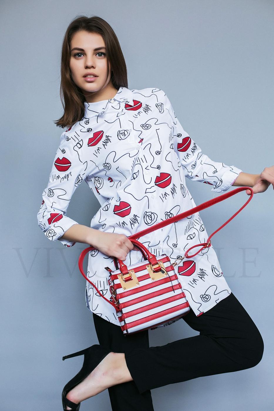 Женская удлиненная блуза