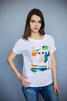 Женская блуза с коротким рукавом 16042-1