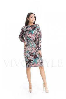 Женское платье с ❝огурцами❝ 20279-1