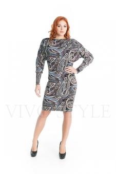 Женское платье с ❝огурцами❝ 20279-2