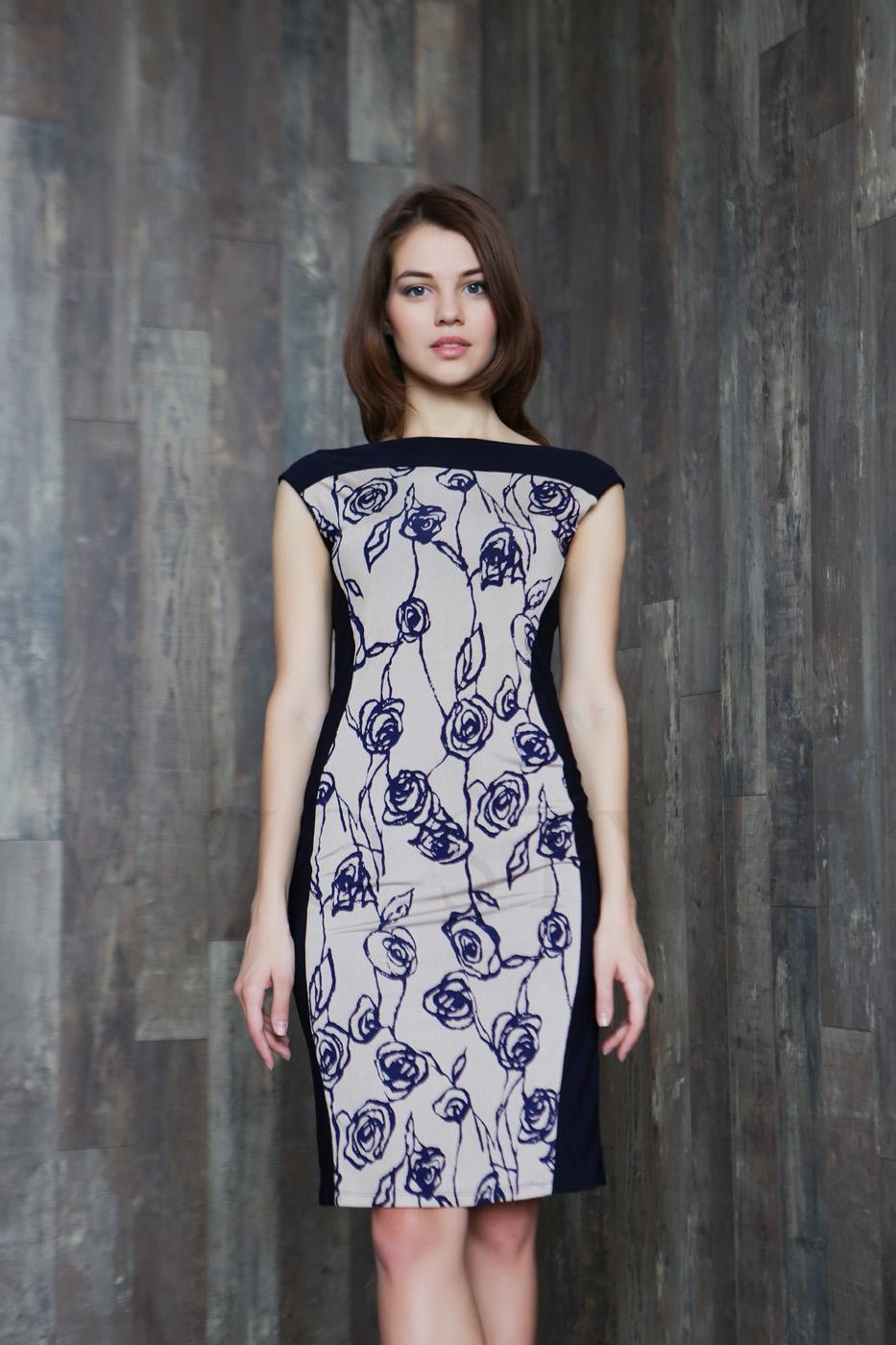 Платье чехол длиной до колена