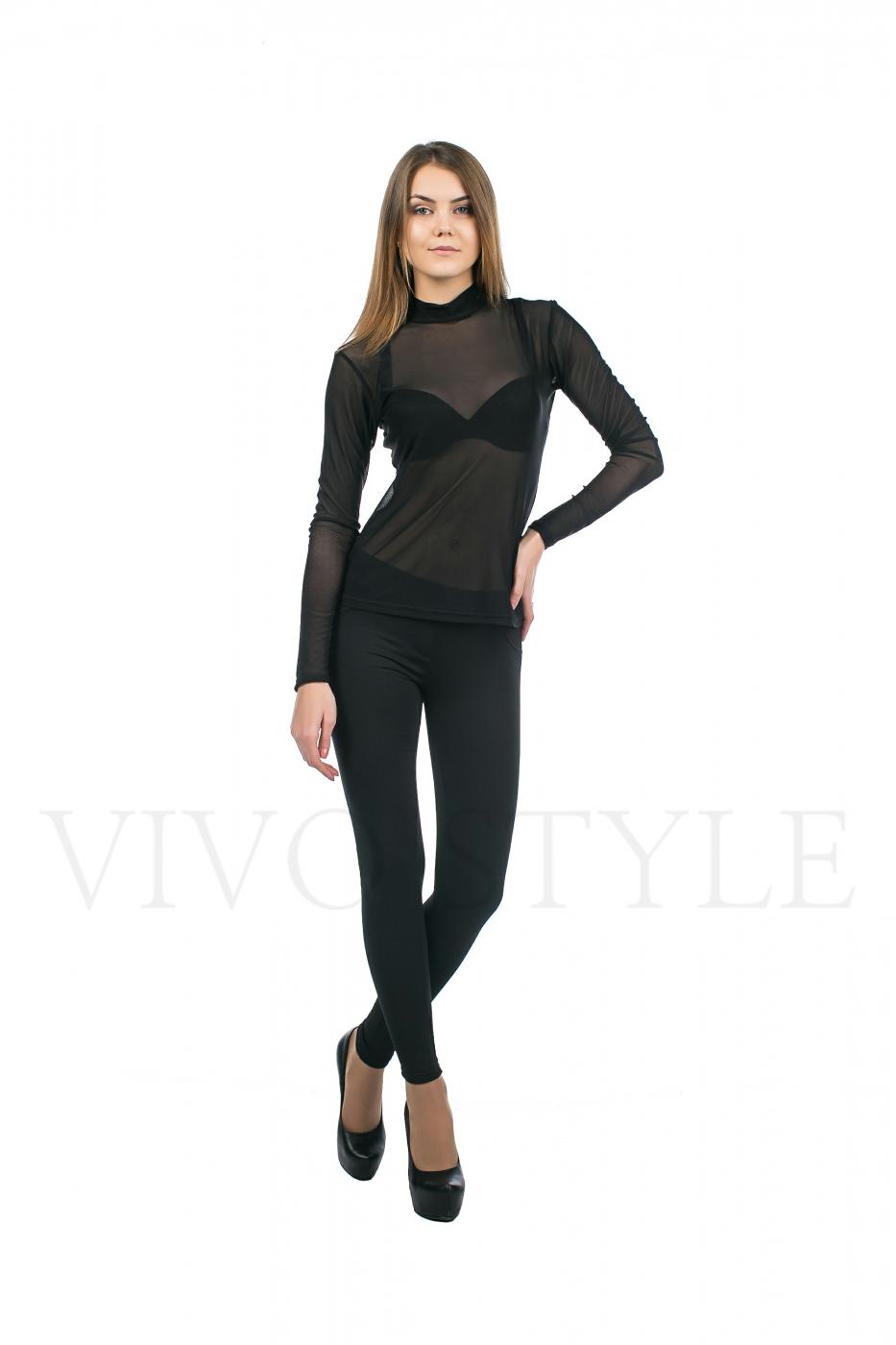 блуза прозрачная черная