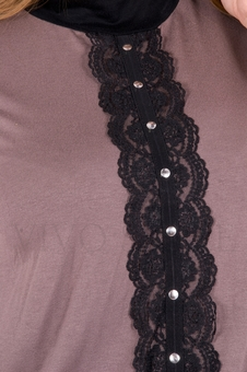 Блуза с кружевом 10118-1