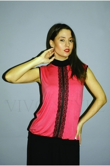Блуза с кружевом 10118-2