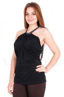 Летняя блуза с драпировкой 10120-2