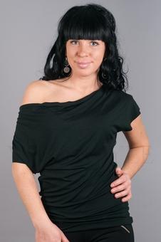 Блуза с цельнокроеным рукавом 10135-2