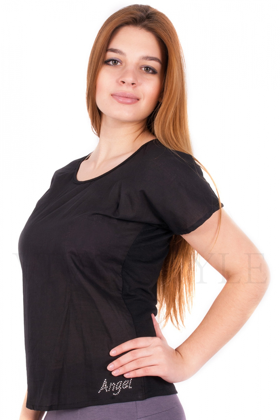 Блуза с надписью Ангел