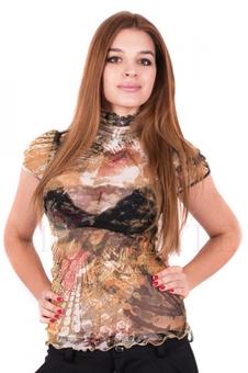 Блуза из цветной сетки 10158-2
