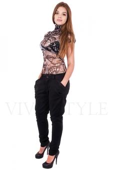 Блуза из цветной сетки 10158-3