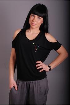 Блуза женская с прямого силуэта 10227-1