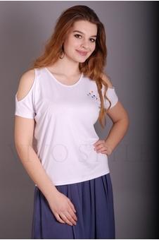Блуза женская с прямого силуэта 10227-2