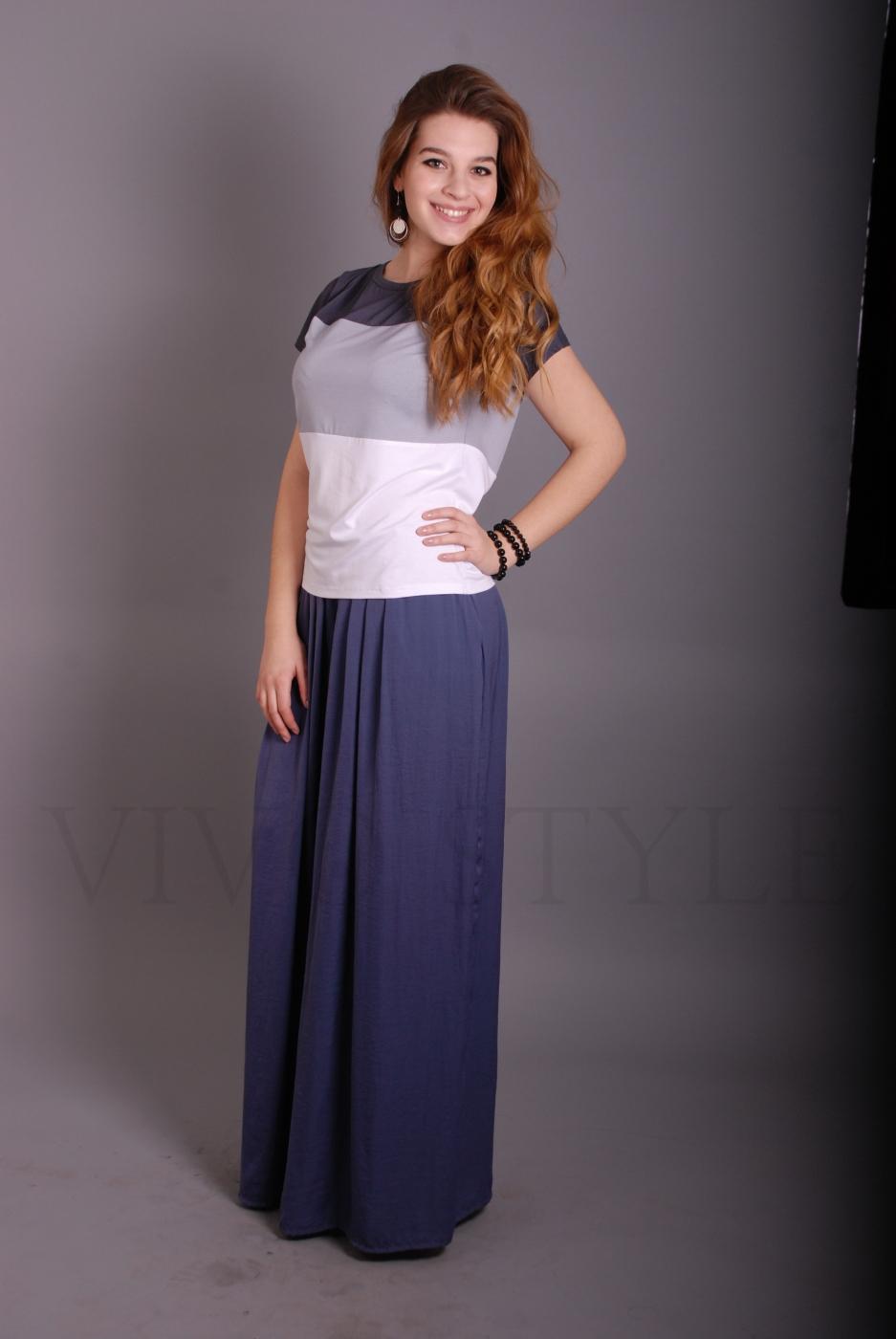 Блуза из трех частей разных цветов