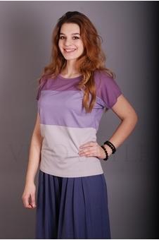 Блуза из трех частей разных цветов 10229-1