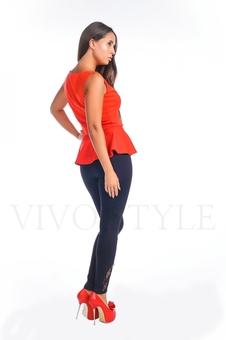 Блуза женская с баской 10263-1