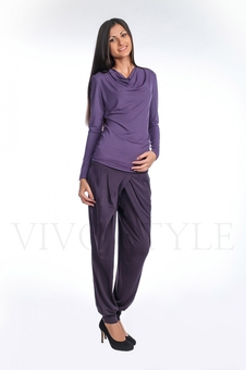 Блуза женская из мягкого трикотажа 10266-1